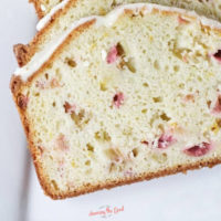 Rhubarb Bread Recipe with Orange Icing