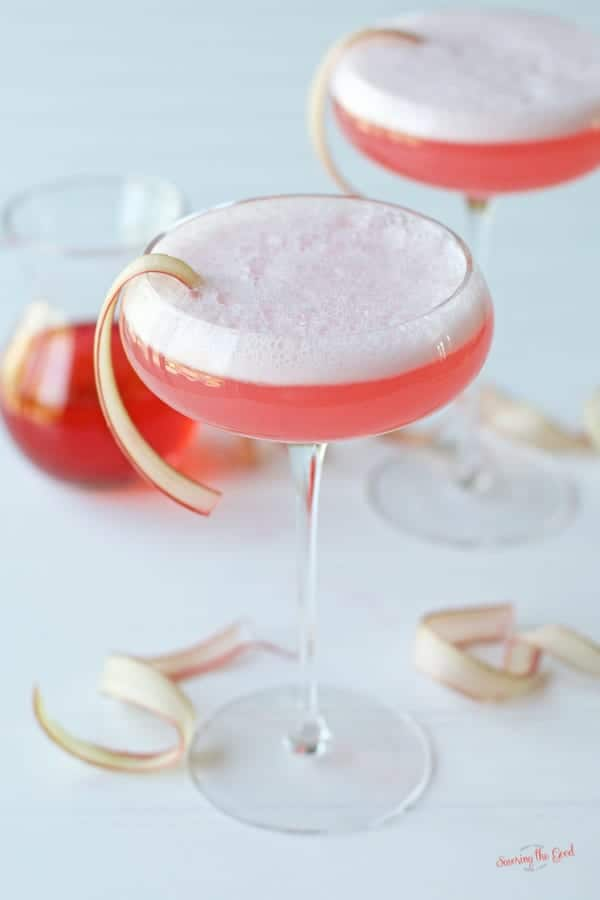 rhubarb sour cocktail