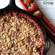 Strawberry Rhubarb Cast Iron Crisp Recipe