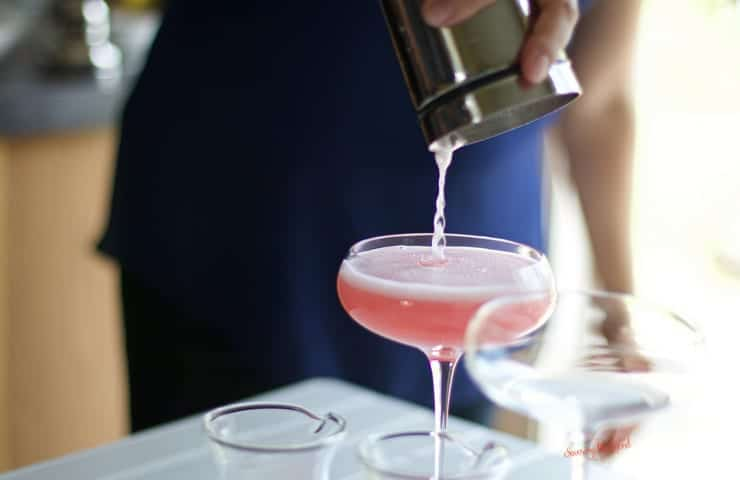 pouring cocktail