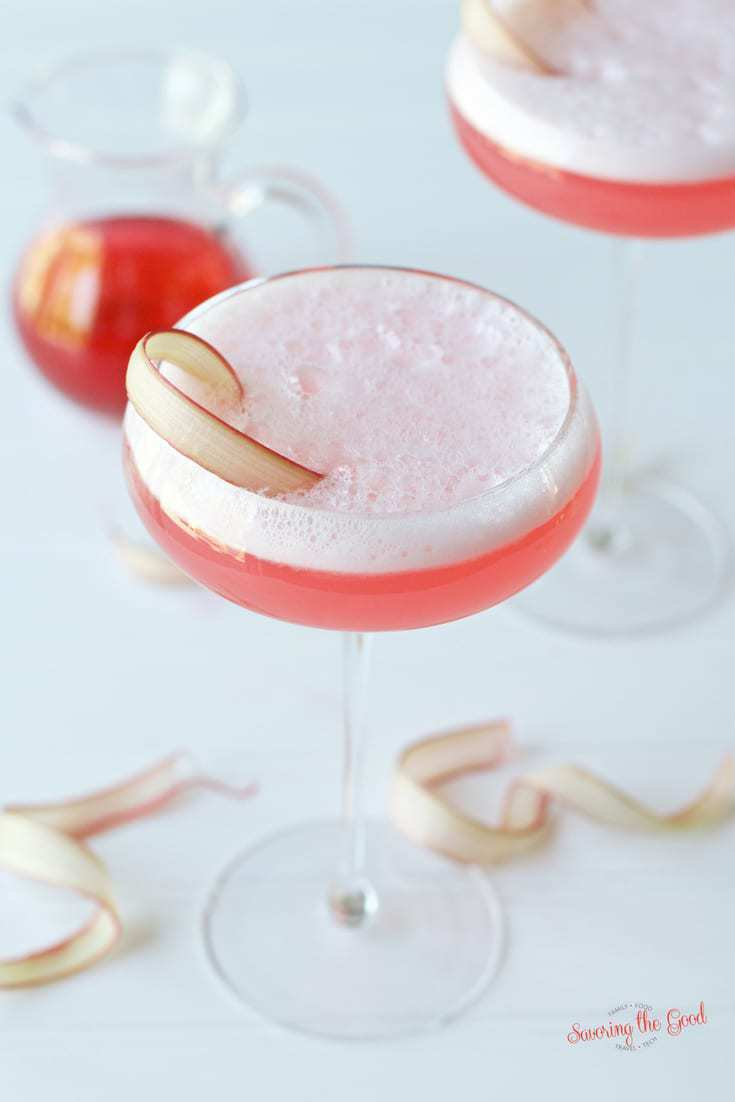 Rhubarb Sour in a glass