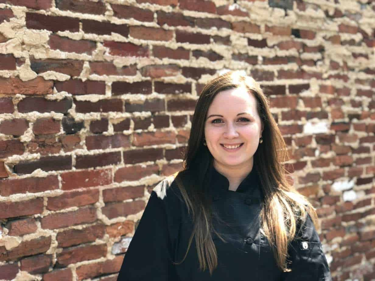 Pastry Chef, Rebecca Strayer head shot outside