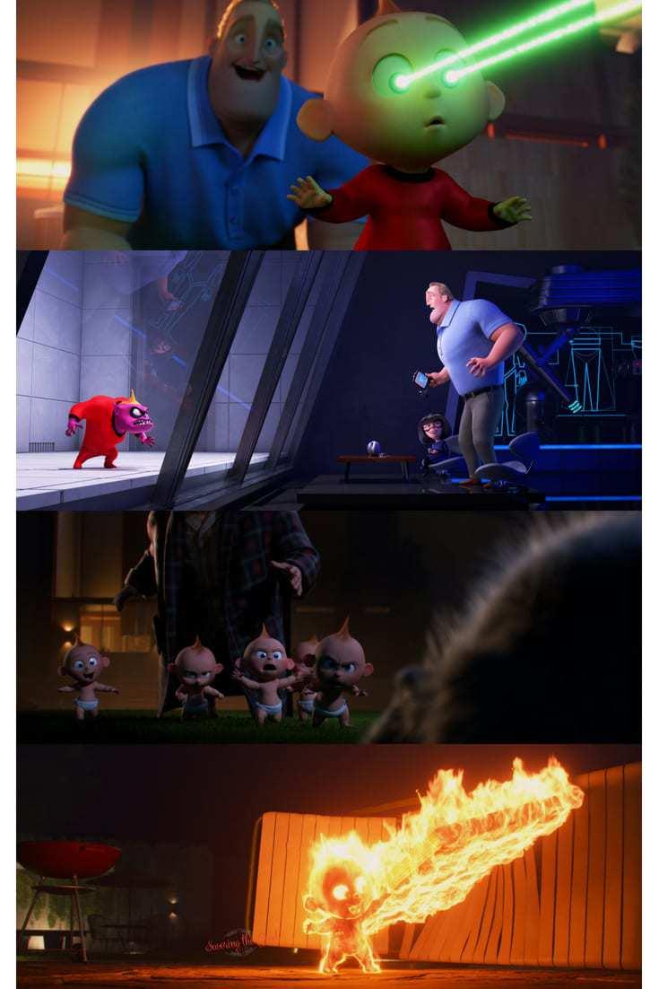 film stills from Incredibles 2 jack-jack