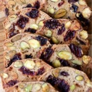 Almondina Pistachio and Dried Cherry Crisp Thins Recipe