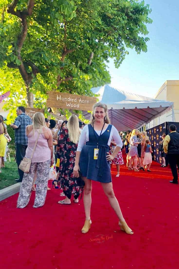 Christopher Robin Red Carpet Sarah Mock Savoring The Good