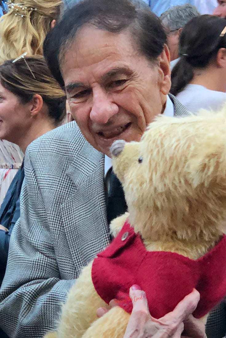 Christopher Robin Red Carpet Richard M. Sherman with Pooh Bear
