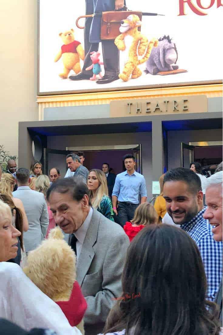 Christopher Robin Red Carpet Richard M. Sherman outside premier