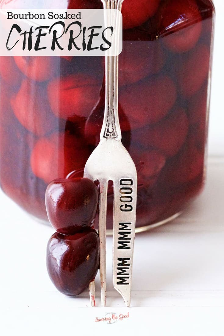 homemade bourbon soaked cherries