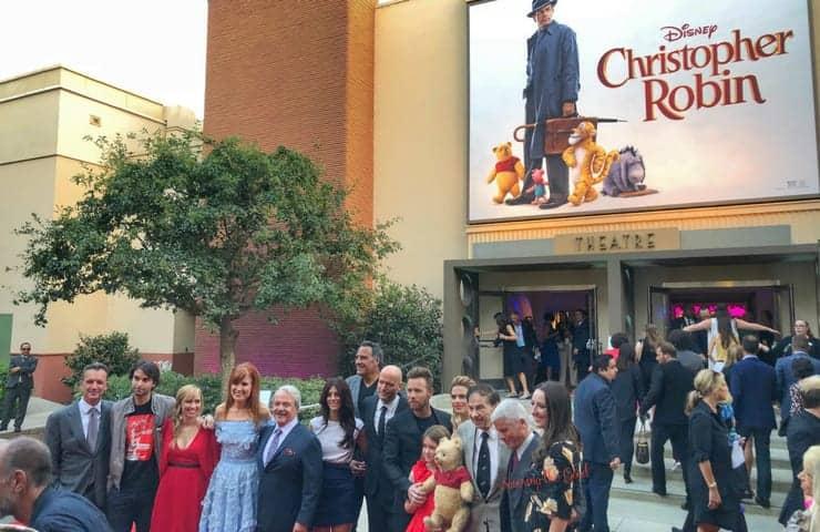Christopher Robin Red Carpet full cast