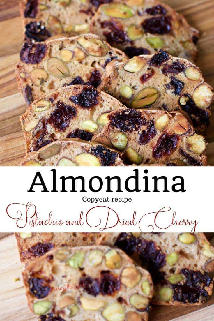 Almondina Pistachio and Dried Cherry Crisp with text for Pinterest