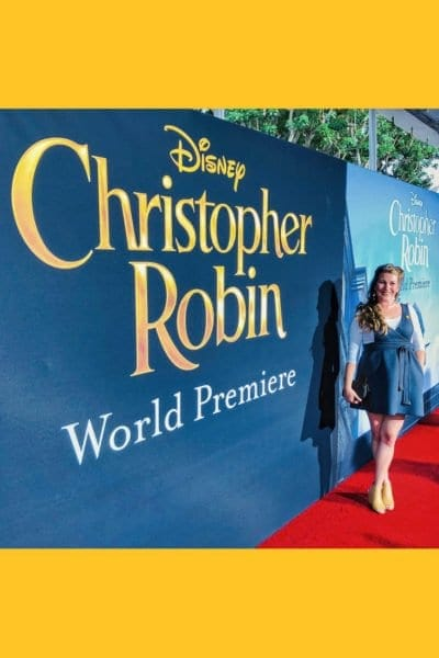 Christopher Robin Red Carpet Sarah Mock