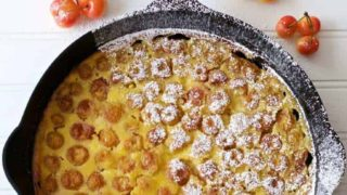 Cast Iron Royal Ann Cherry Clafoutis
