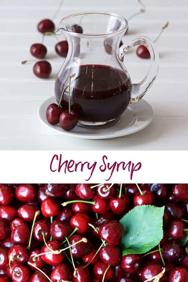 cherry syrup with bing cherries shown in mass