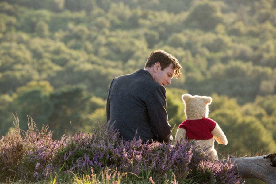 (Ewan McGregor) with his long time friend Winnie the Pooh in Disney's live-action adventure CHRISTOPHER ROBIN.