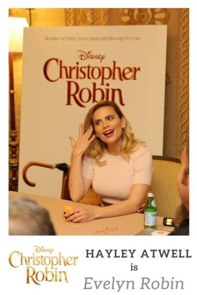Chatting with Hayley Atwell as Evelyn Robin of Disney's Christopher Robin