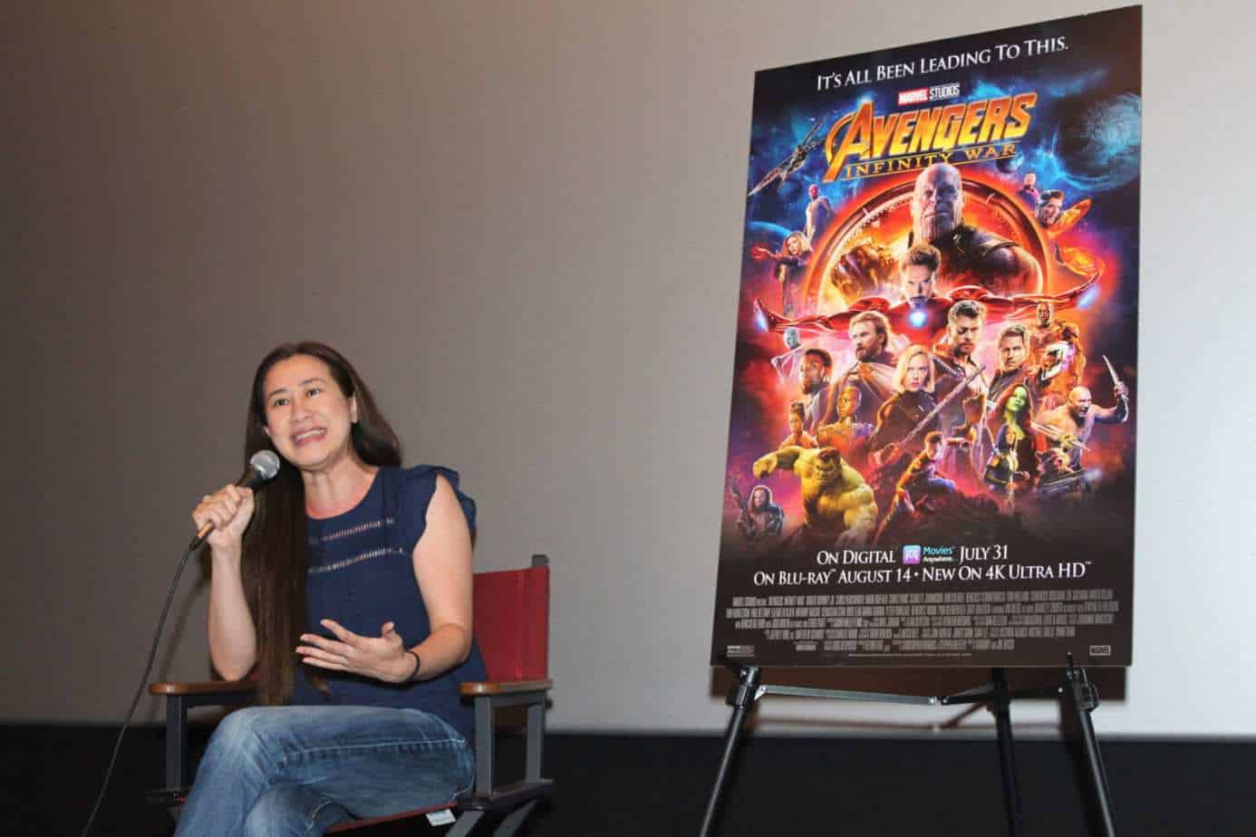 Trinh Tran Executive Producer of Avengers: Infinity War Interview shot 2