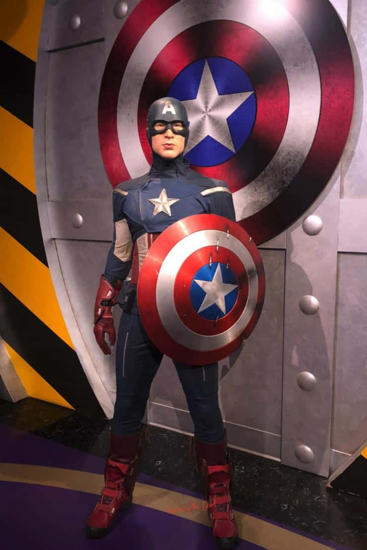 What is new at Madame Tussauds Hollywood Captain america full suit