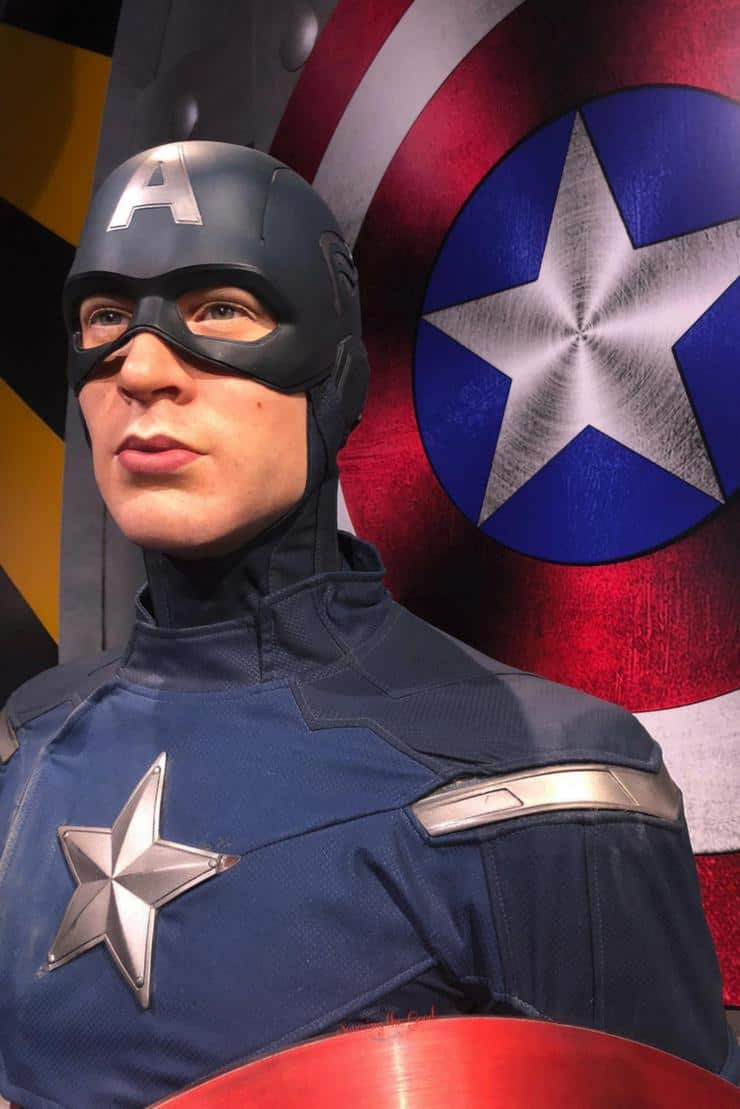 What is new at Madame Tussauds Hollywood Captain America