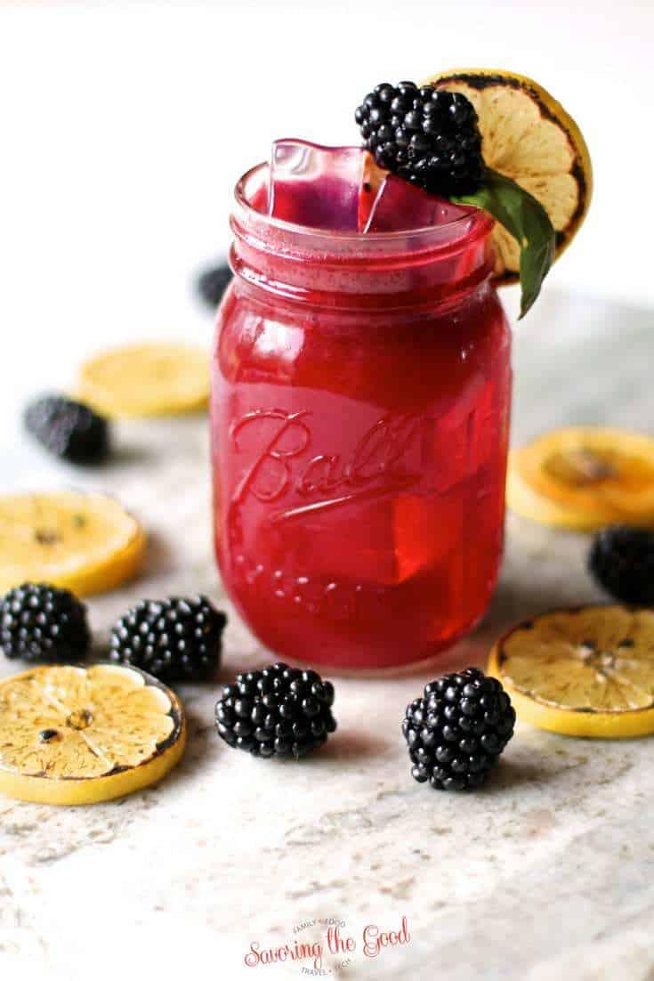 easy Blackberry Bourbon Lemonade