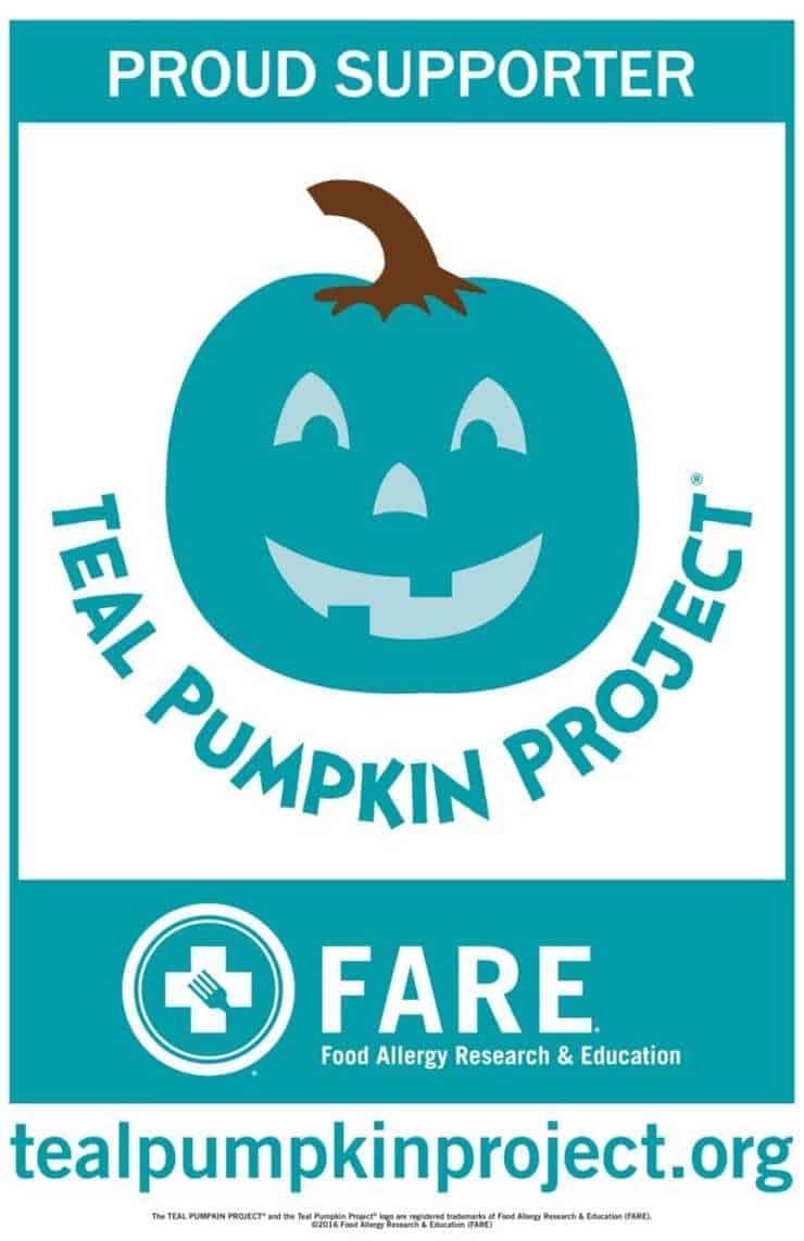 teal pumpkin project yard sign