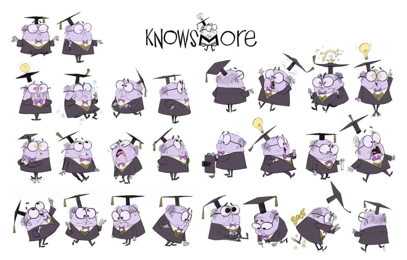 RALPH BREAKS THE INTERNET - KnowsMore character visual development model sheet by Cory Loftis (Production Designer)