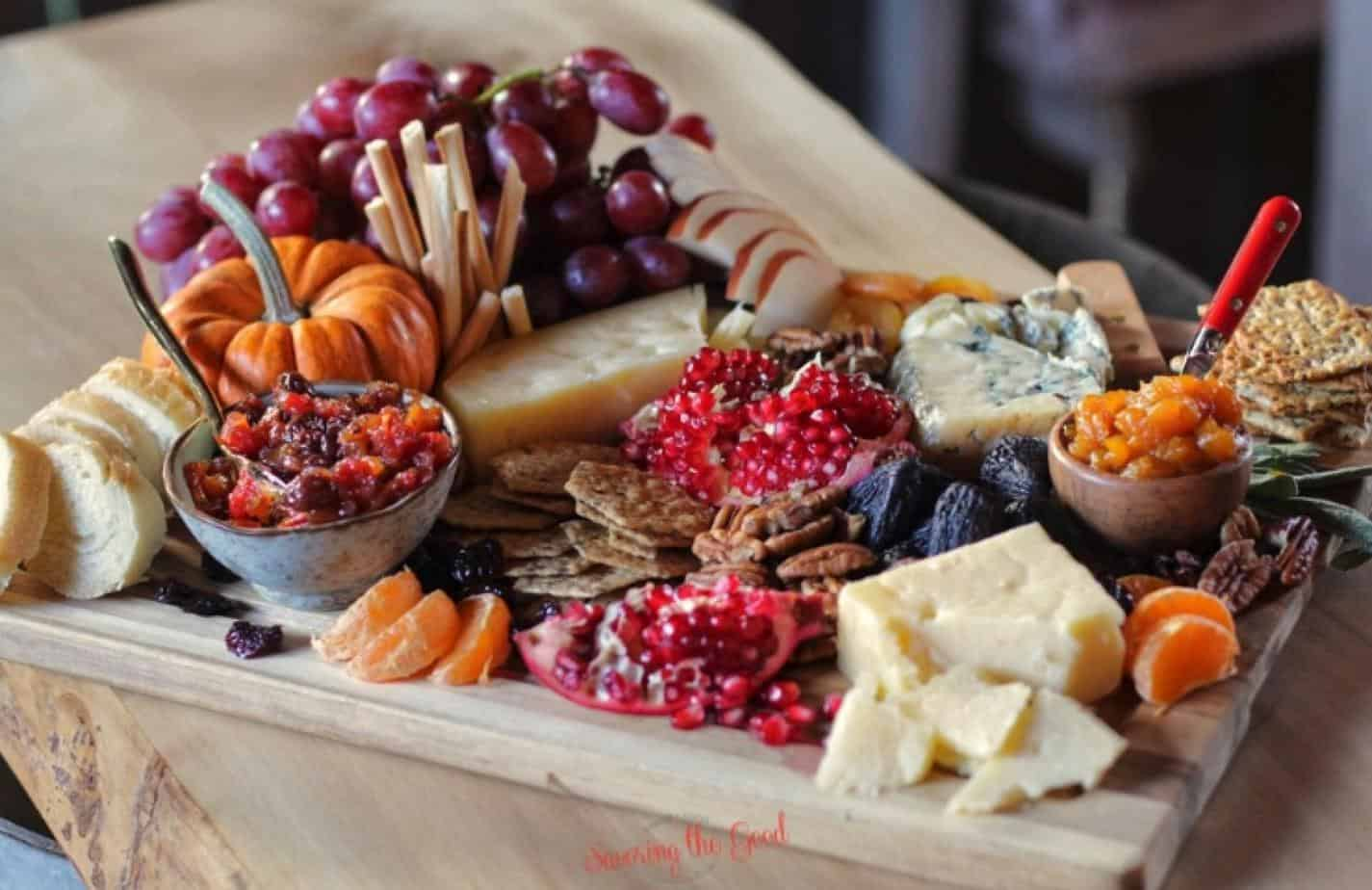 putting together a beautiful cheese board