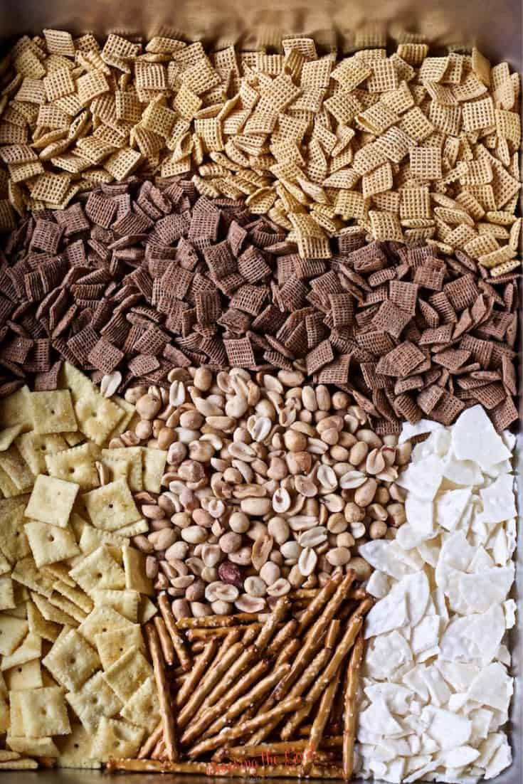 Buffalo Chex Mix recipe ingredients