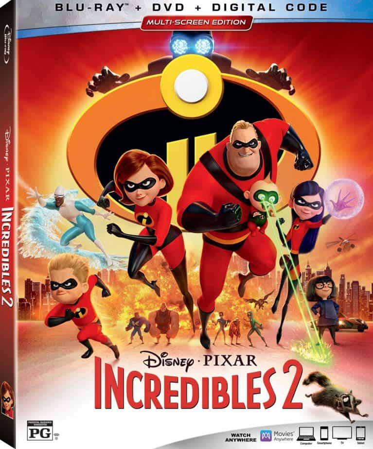 Incredibles 2 bluray cover
