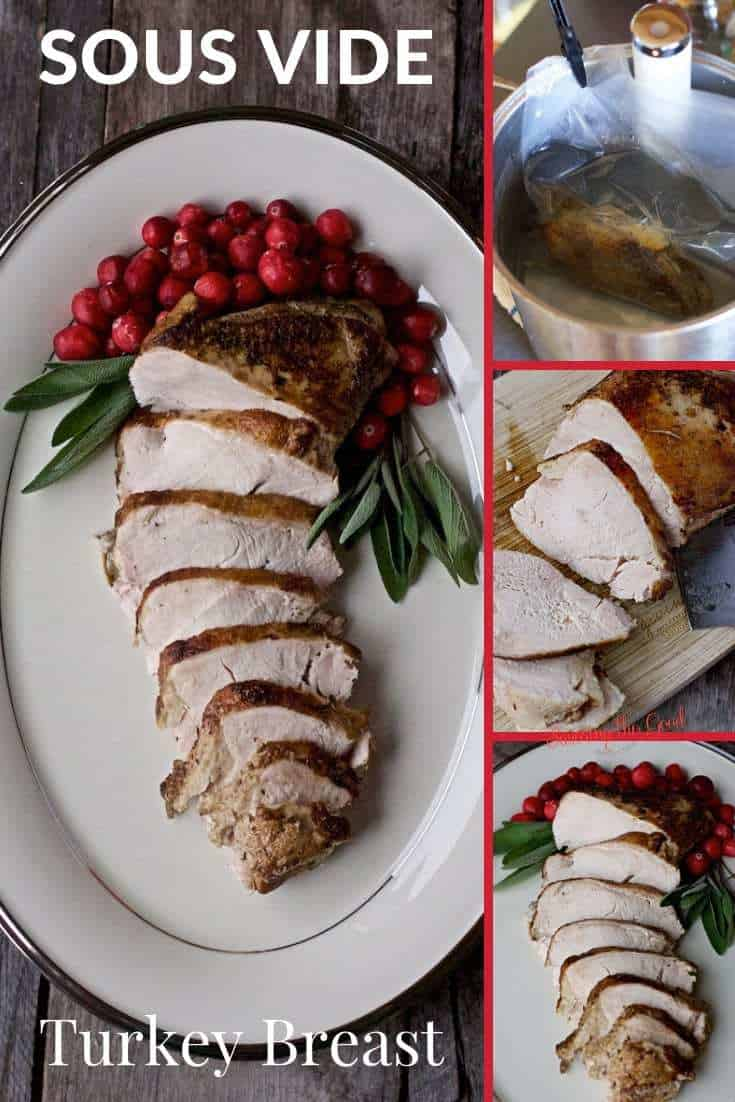 multipane graphic of Sous Vide Turkey Breast