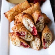 Thanksgiving turkey egg rolls Recipe