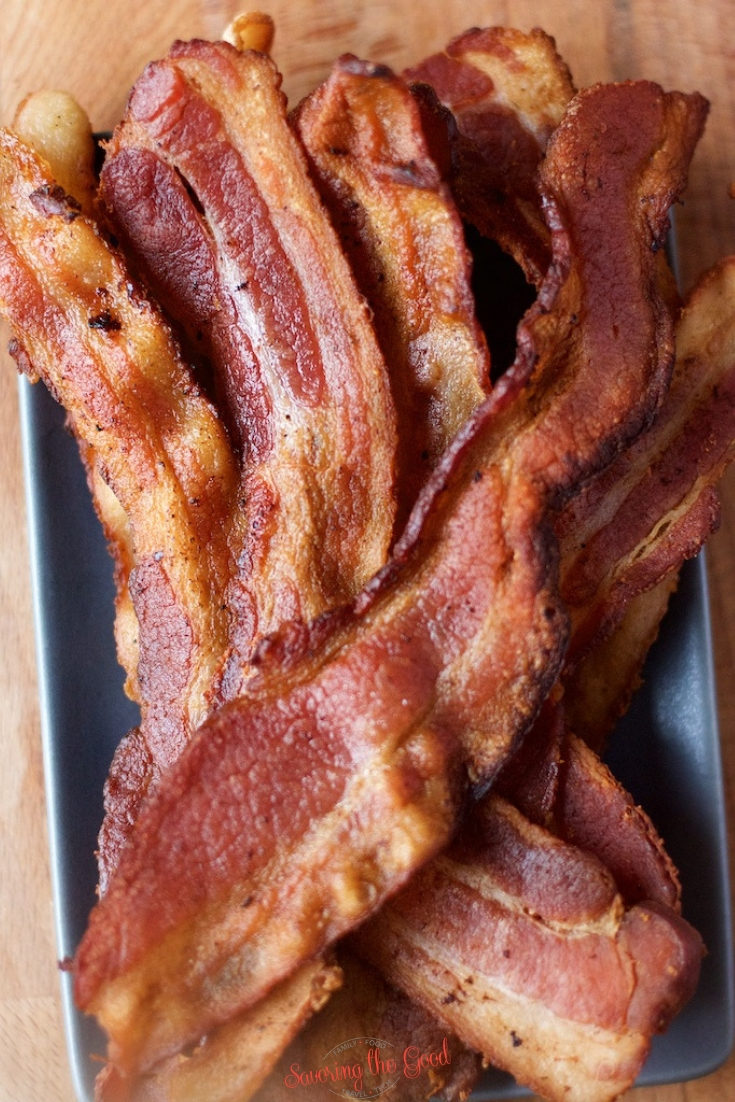 Sous vide bacon is cooked overnight and up to 24 hours and will give you the best bacon you have ever eaten. Cooking bacon with the sous vide method  will allow the bacon maintain all the flavor, meatiness and juiciness that we love in bacon. #sousvide #bacon #sousvidebacon #sousvidecooking #STGRecipe