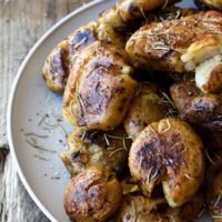 Sous Vide Potatoes with Rosemary