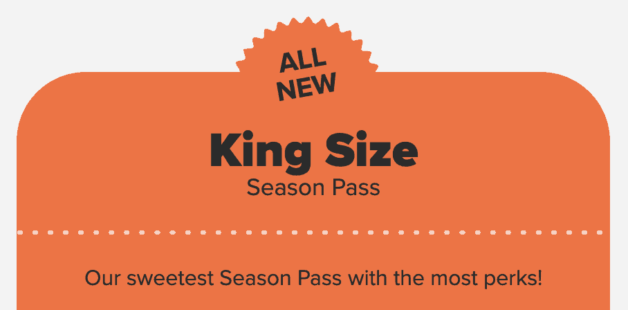 2020 Hersheypark Kind Size Season Pass
