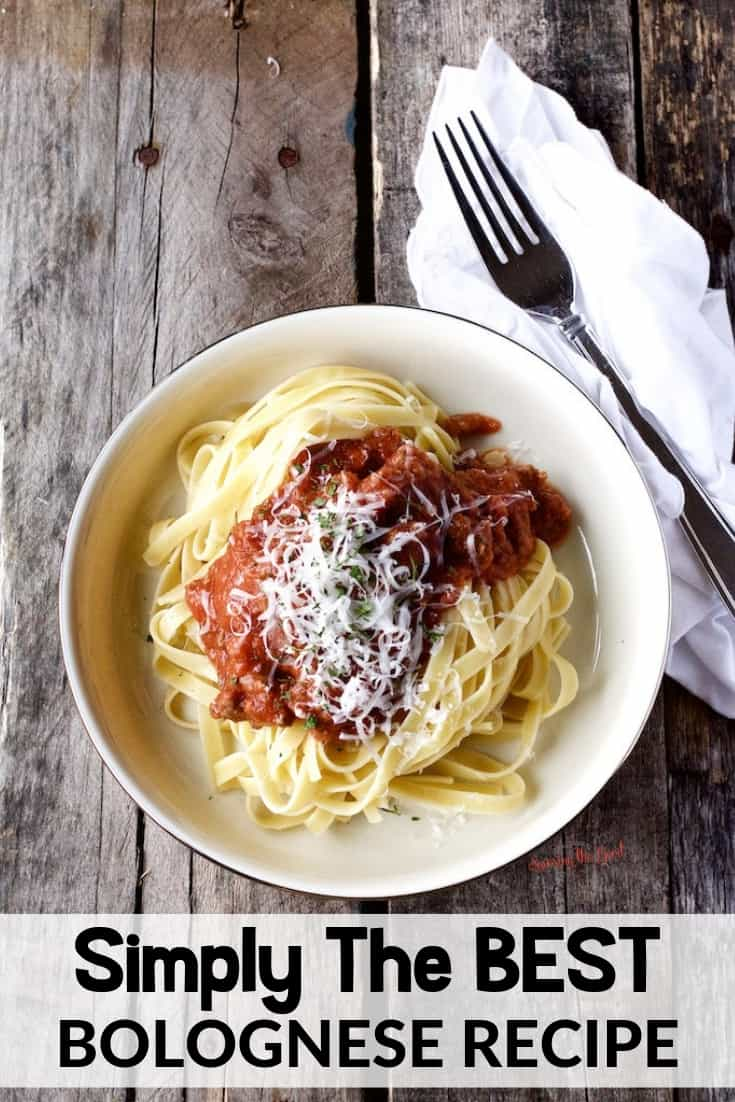 simply the best Bolognese sauce on a pile of pasta