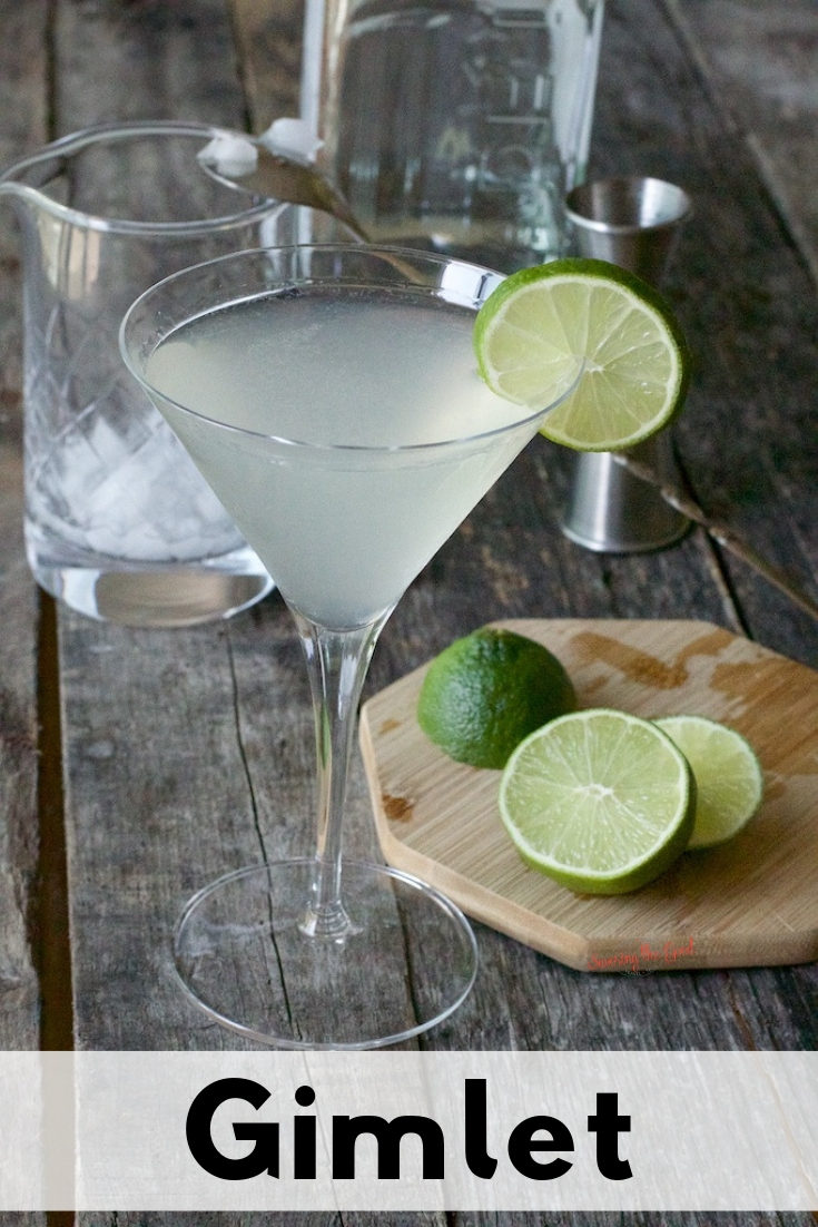 The Gimlet is a classic cocktail with gin, lime juice and simple syrup or Rose's sweetened lime juice. An easy summer cocktail that can be enjoyed year round.  #cocktail #Gimlet #Gimletcocktail #summercocktail #gincocktail #stgrecipes