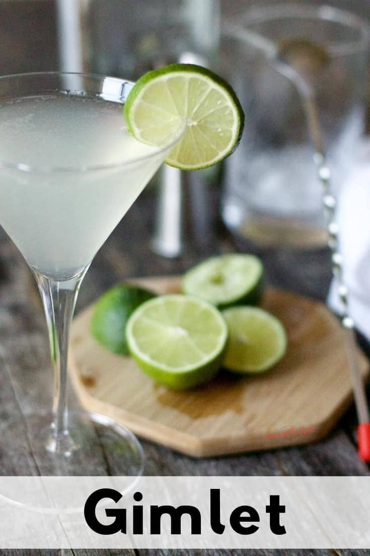 Gimlet in a glass