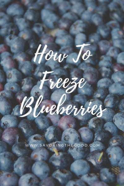 How To Freeze Blueberries graphic