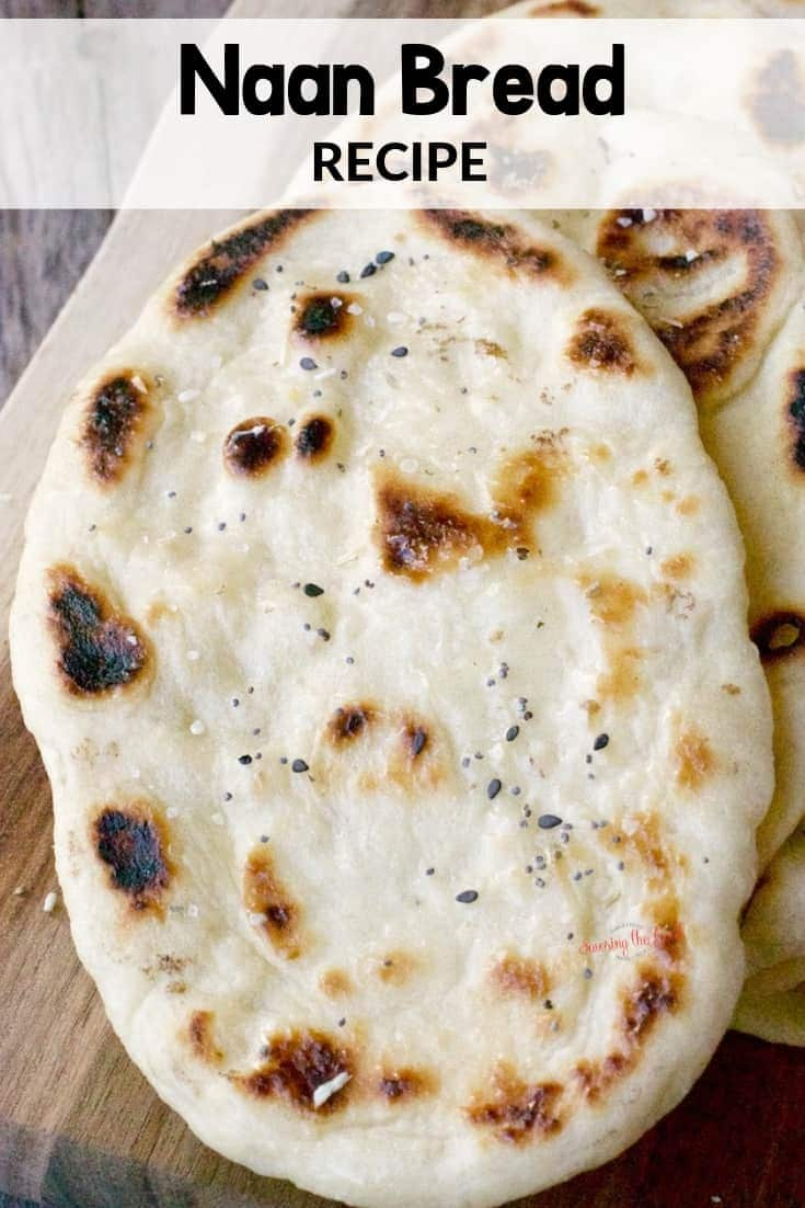 close up of Naan Bread with texture