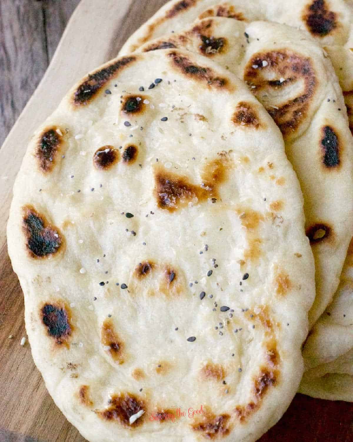 short stack of Naan Bread