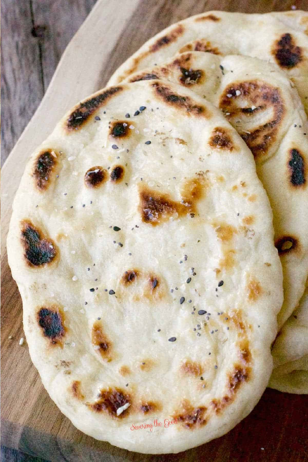 vertical image of Naan Bread