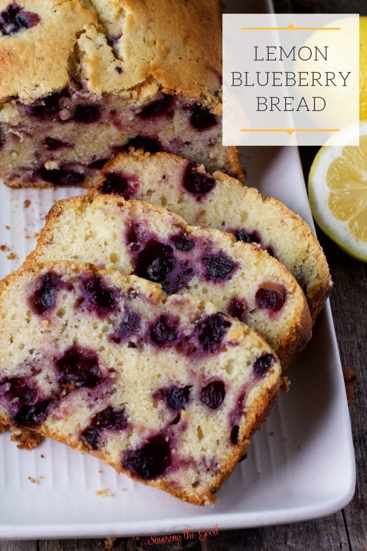 Lemon blueberry bread is one of the easiest quick bread recipes. Feel free to use fresh blueberries or frozen blueberries in this delicious blueberry bread but do not skip using fresh lemon juice and lemon zest. The flavors of lemon and blueberry compliment each other beautifully. #blueberrybread #lemonblueberrybread #quickbreadrecipe #blueberryrecipe