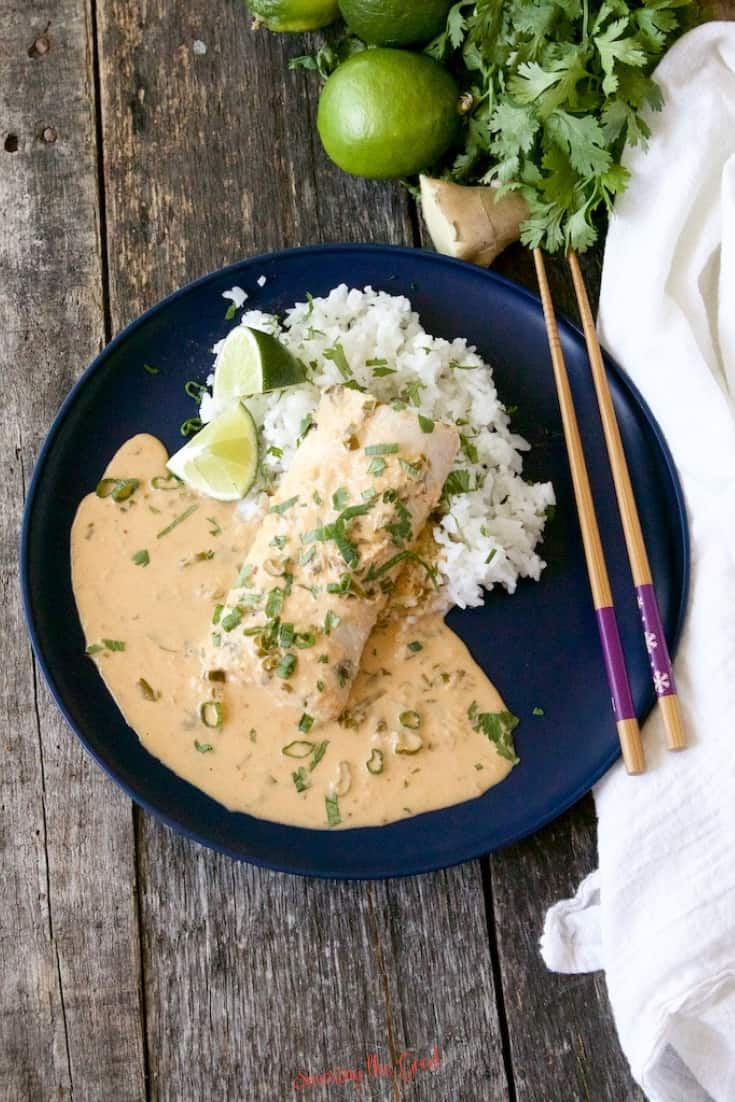 sous vide Mahi-Mahi with Thai Coconut Curry Sauce recipe