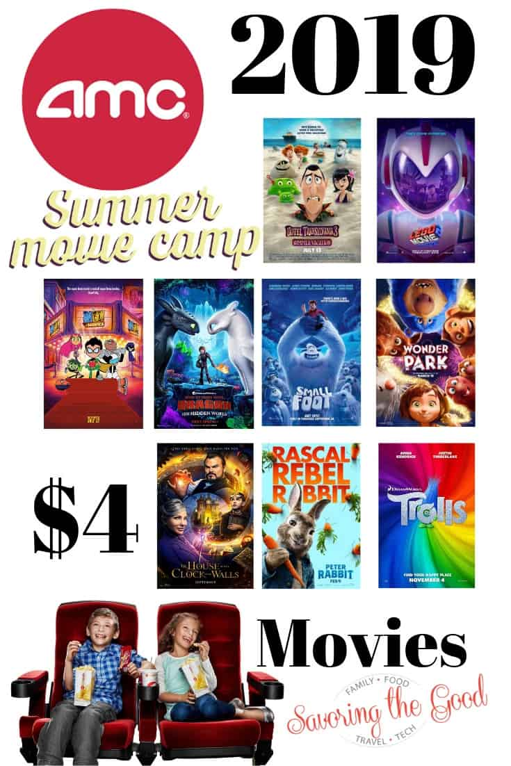 2019 AMC Summer Movie Camp Schedule