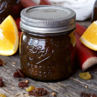 Rhubarb Orange Chutney Recipe