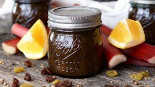 Orange Rhubarb Chutney Recipe