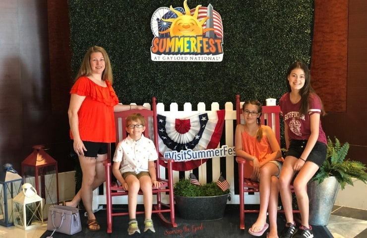 photo spot at SummerFest at Gaylord National