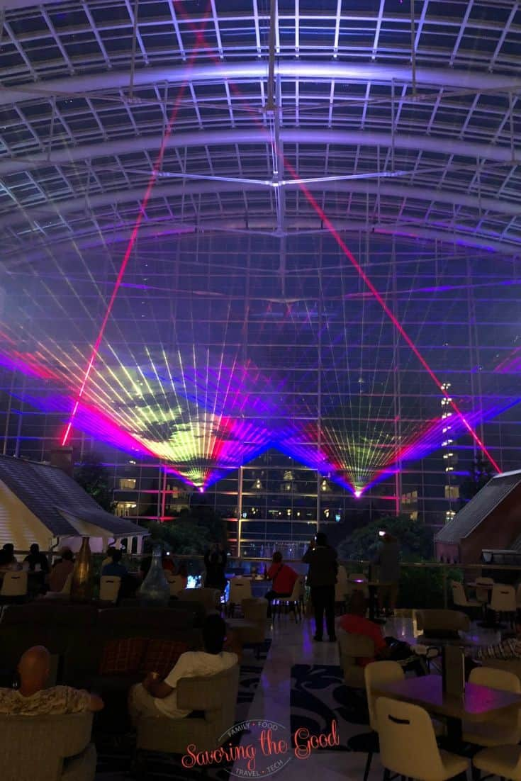 laser show at SummerFest at Gaylord National