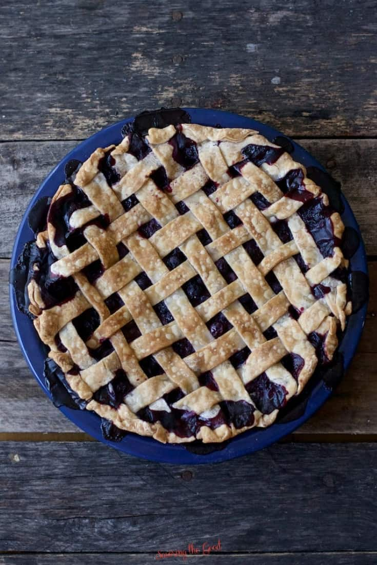 fully baked blueberry pie recipe with lattice top