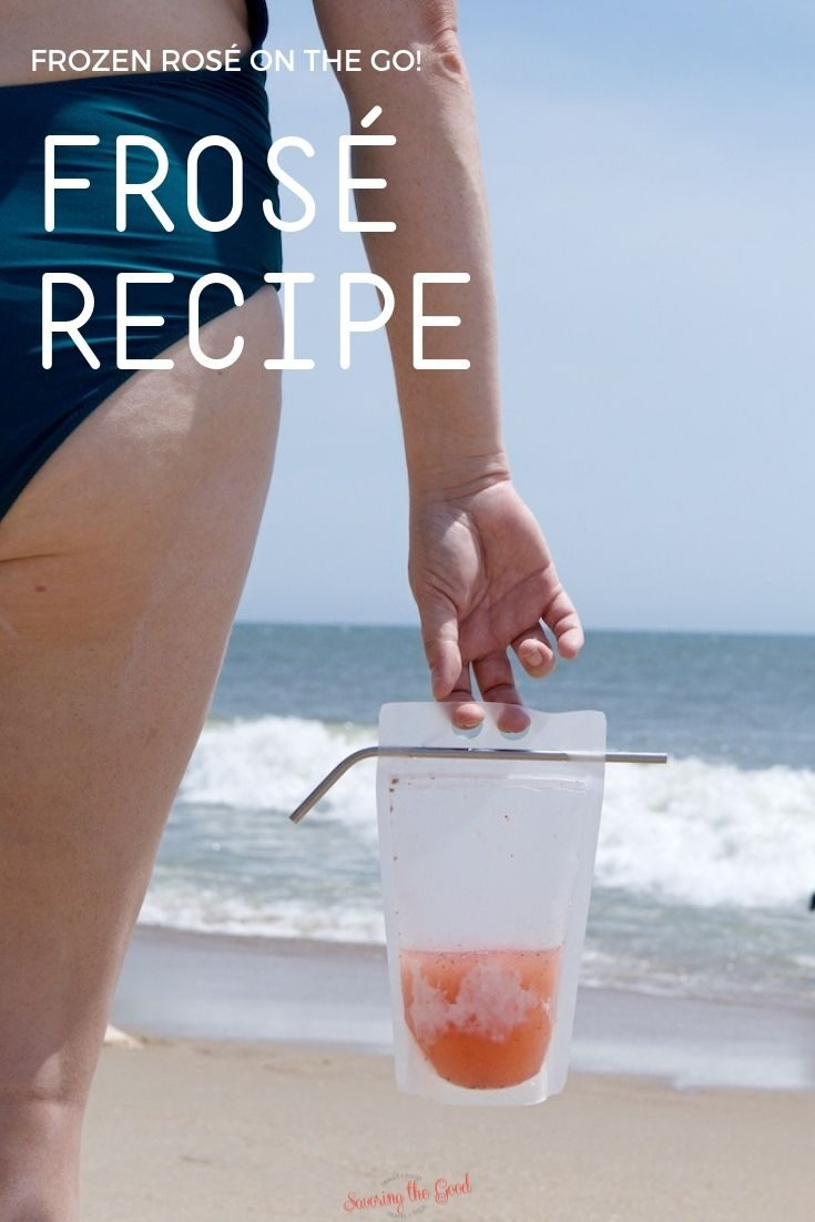 Summer is not complete unless you are sipping on frosé on a hot day. No frosé machine needed when you follow my easy instructions on how to make this homemade frosé recipe. #frose #frozeallday #summercocktial #frozendrink #stgrecipes
