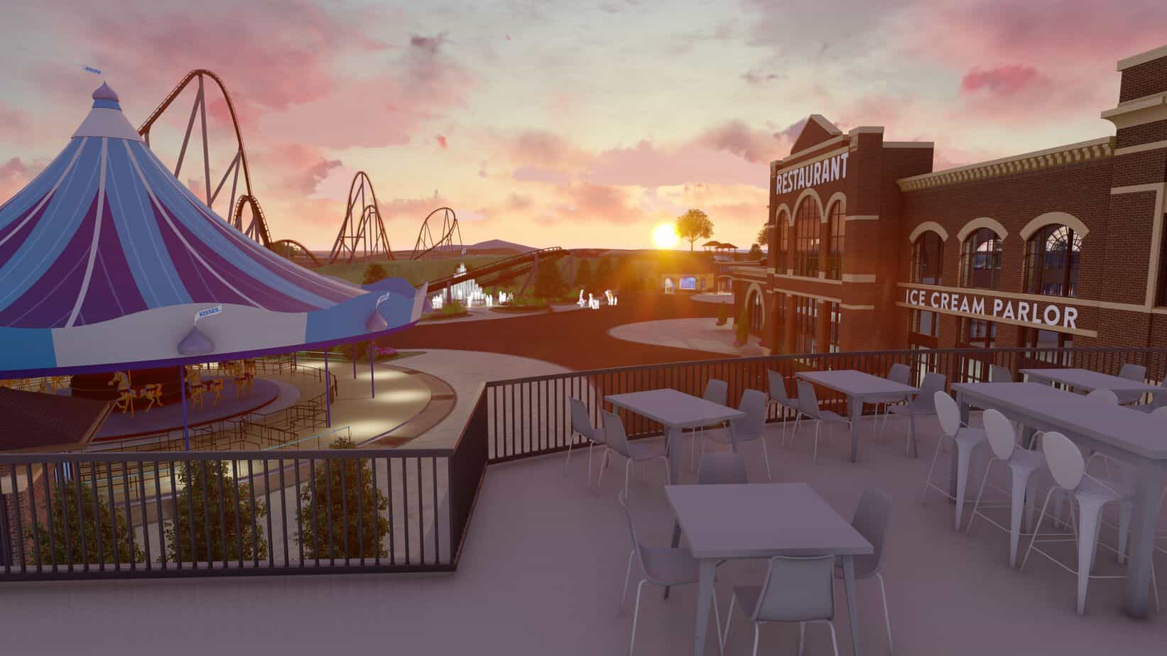 chocolatetown restaurant and patio rendering